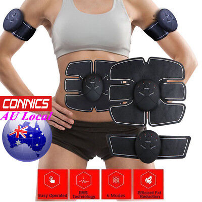 EMS Muscle Training Body Shape Fit Set ABS SixPad Fitness Massage Home Trainer