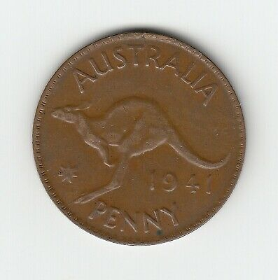 1941P (K.g)  Kgvi Australia Penny - Very Nice Harder To Get Vintage Coin