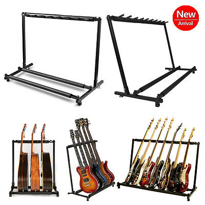 Guitar Stand 3 5 7 9 Holder Folding Stand Rack Band Stage Bass Acoustic Guitar