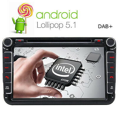 8'' Android 5.1 Car DVD GPS Stereo Sat Nav for VW GOLF MK5 MK6 PASSAT tiguan EOS