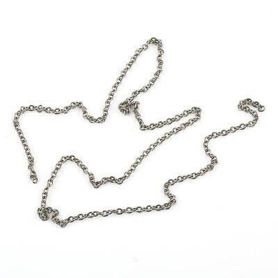 Pure Titanium O Shaped Chain Necklace Anti-Allergy Welded 60cm/Joiners Connector