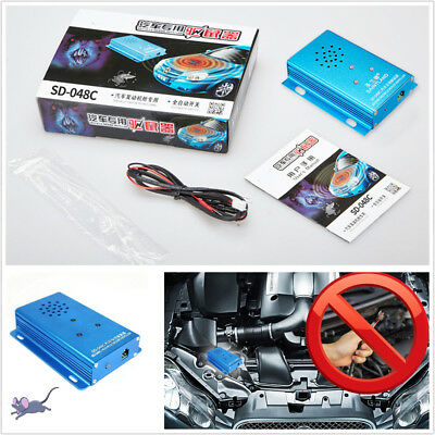 Blue Mouse Repeller Ultrasonic Pest Control Mice Under Hood in Car For Mice Ants