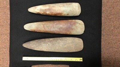 Very Rare Cache of Indian Pole Celts, Meigs County, TN, Museum Grade Artifacts!