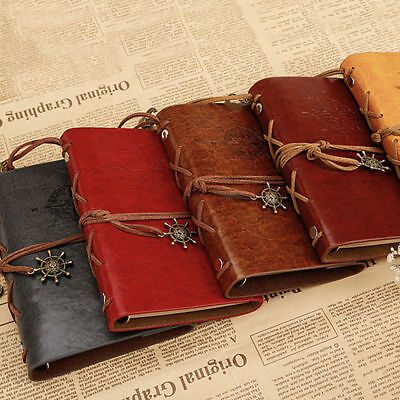 8 style A5 Vintage Leather Blank Page Notebook Notepad Journal Diary Sketchbook
