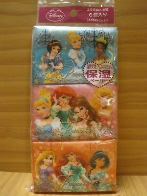 Disney Princess Ultra Soft Facial Pocket Tissue 6 packs, Snow White, Cinderella