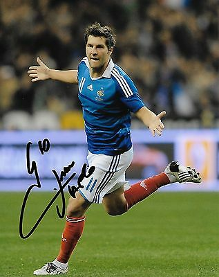 Team France Andre Pierre Gignac Autographed Signed 8x10 Photo COA F