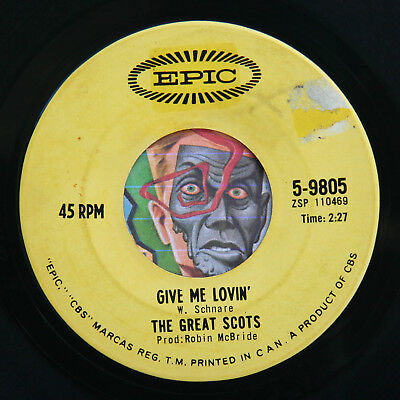 HEAR Great Scots 45 Give Me Love/Dont Want Your Love EPIC garage psych stomper