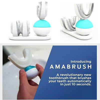 Automatic Hands Free Amabrush Sonic All Tooth Toothbrush Wireless Charging