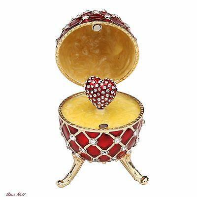 Music Boxes For Women Faberge Egg With Swarovski Crystals Limited Edition NEW