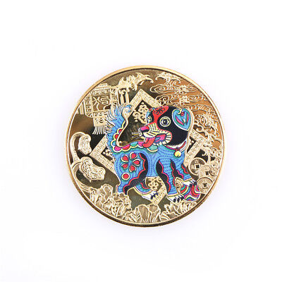 Year of The Dog Golden 2018 Chinese Zodiac Anniversary Coins Tourism Gift JF