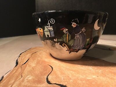 Vintage Biordi Hand Painted Artist Signed Italian Pottery Bowl. Mint Condition.