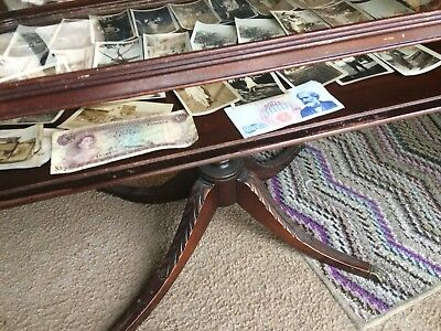Imperial Glass Top Antique Small Coffee Table 1939