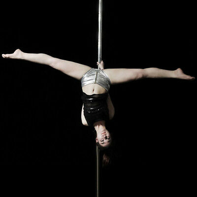 Pole Dancing Silver Dance Pole Portable 50Mm Full Kit Stainless Steel W/dvd