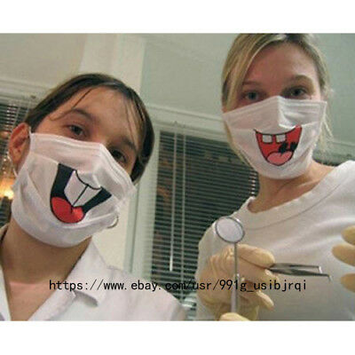 New funny dentist front tooth respirator mask dust mask smiling face care mask