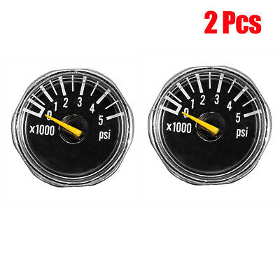 2Pcs Mikro Gauge 1'' 5000 psi Hochdruck Manometer für HPA Paintball Tank CO2 PCP