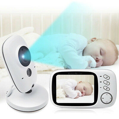 "2.4G Wireless Digital 3.2"" LCD Baby Monitor Camera Audio Video Night Vision"