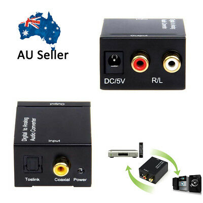 Hot RCA Digital Optical Coax Coaxial Toslink to Analog Audio Converter Adapter