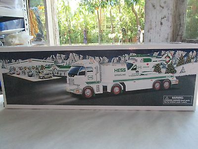 2006 Hess Toy Truck And Helicopter W/ Lights ~ Nib ~ Adult Collector ~ Vg++
