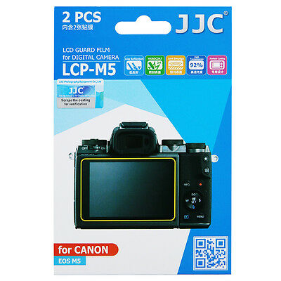 JJC LCD Guard Film Screen Display Hard Coating Protector for Canon EOS M5 Camera