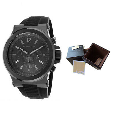 40304914c9a6 100% New Michael Kors MK8152 47.9mm Case Dylan Black Silicone Strap Men s  Watch