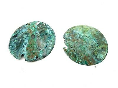 Rare Roman Pair Of Legionary Armour Fitting Artifact Historic Stunning - L381