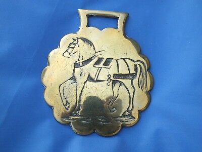 Antique Horse Brass - An Excellent 19th c. Intaglio Horse horse brass (Ref.1520)