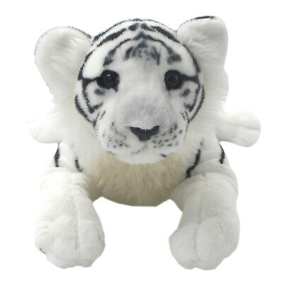 Tagln Lifelike Stuffed Animals Toys White Tiger Plush Pillows For