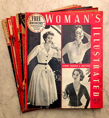 WOMAN'S ILLUSTRATED MAGAZINE - JOB LOT 10 ISSUES between 1954 1955 1956 1957