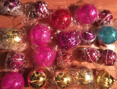 20 Large 5 Inch Diameter Christmas Ball Ornaments Decorations Holiday Balls NEW