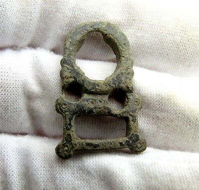 Roman Era Bronze Temple Pendant - Rare Artifact - Q580