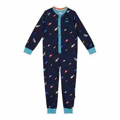 Baker By Ted Baker Kids Boys Navy Space Print All in One Jumpsuit From Debenhams