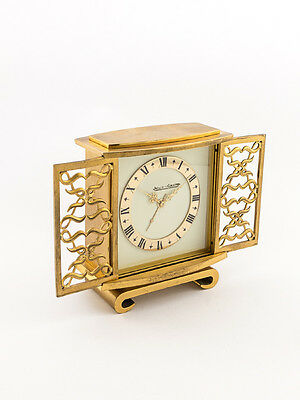 Rare Jaeger-LeCoultre table clock with 2 day movement and alarm, 1960´s