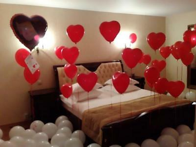 10-100 Heart I Love You Balloons Valentines Day Romantic Baloons His/Her Gifts