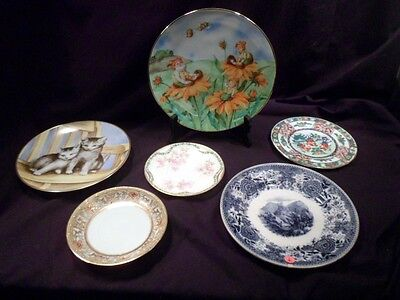 Collection of Six Antique, Vintage Plates, Villeroy, Haviland, Kaiser, Woodmere