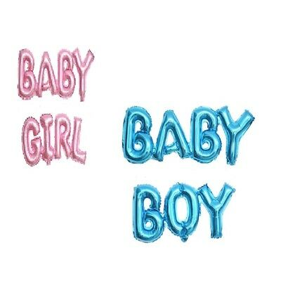 Baby Shower Party Decoration Feast Letter Foil Balloon Blue Boy & Pink Girl