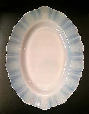 American Sweetheart Monax Depression Glass Platters (2)