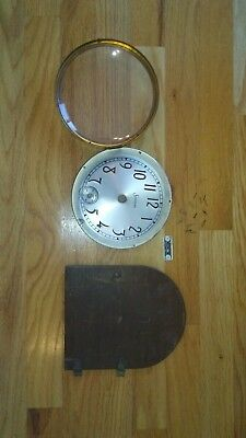 VINTAGE SESSIONS MANTLE CLOCK DIAL AND GLASS FRONT + BACK DOOR , model D