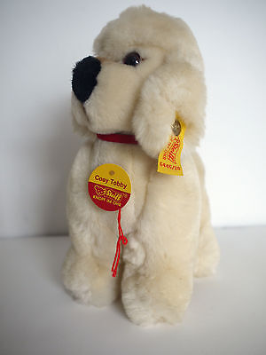 Steiff Cosy Tobby Poodle 5445/20 Cream Dog Plush Excellent with Tags