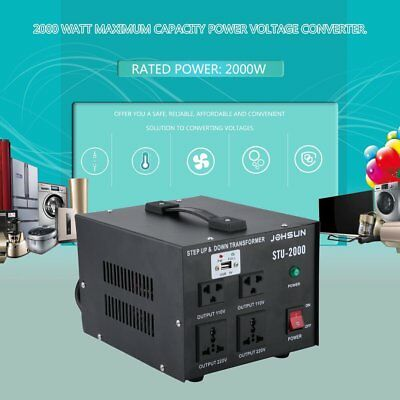 ST- 2000W Watt Step Up Down 110V 220V USB Voltage Converter Transformer US Ship