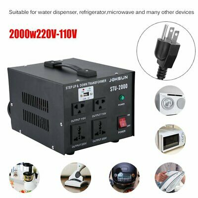 Step Up and Down 2000W Heavy Duty Voltage Transformer 110V to/from 220V With USB