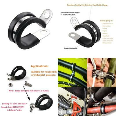Lokman 20 Pack 1/4 Inch Stainless Steel Cable Clamp Metal Clamp Tube Holder