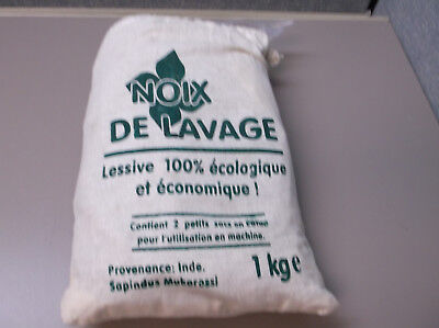 1KG PACK SOAP NUTS WASNOTEN NOIX de LAVAGE SOAP WASHING SHELL W/2 SMALL BAGS
