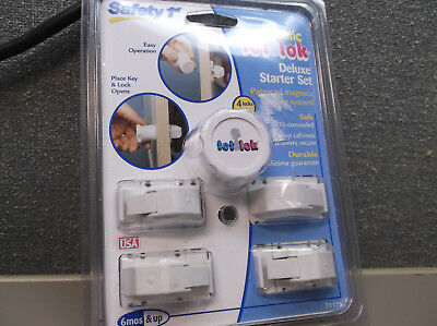 Safety 1st Magnetic Tot Lock For Cabinets And Drawers New Set Of 4  Sealed