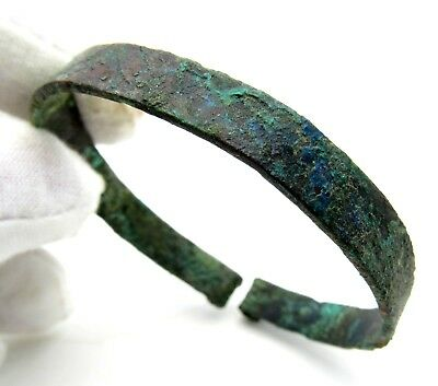 Viking Era Bronze Bracelet - Ancient Wearable Historic Artifact - Q650