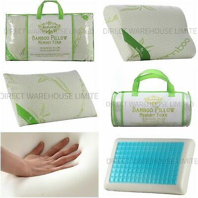 New Luxury Bamboo Memory Foam Pillows, Anti-Bacterial Orthopedic Head support