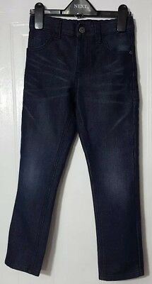 Boys Dark (Navy Blue) NEXT Jeans Age 7 Years with Adjustable Waist