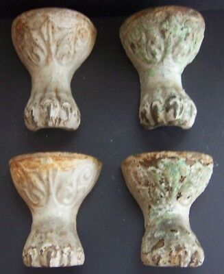 4 Antique  Cast Iron Claw Foot Tub legs Feet Ball & Eagle Claw Talon