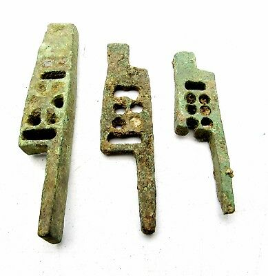 Roman Bronze  Padlocks  - Rare Ancient Wearable Historic Artifact Lovely -  Q676