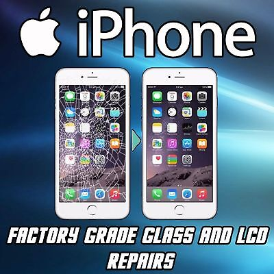 iPhone 6/6PLUS Cracked Glass LCD Broken Screen Repair Service OEM FAST