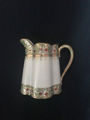 "Beautiful Vintage ""Nippon"" Hand Painted Pitcher-EUC"